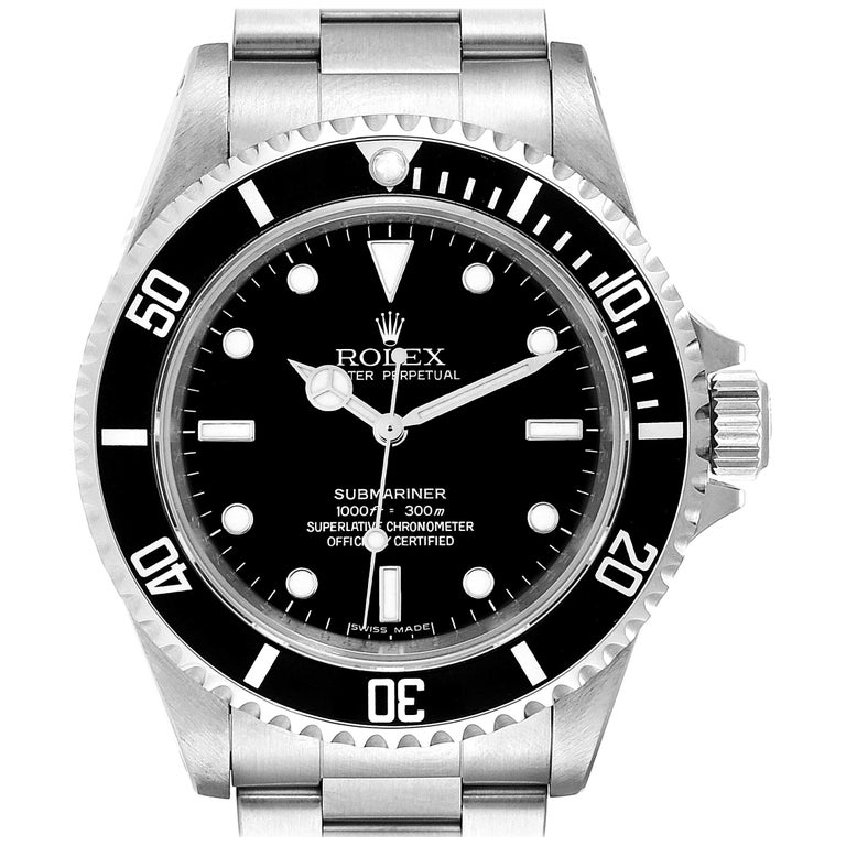 Rolex Submariner Non-Date 4 Liner Steel Men's Watch 14060 For Sale