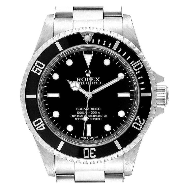 Rolex Submariner Non-Date 4 Liner Steel Steel Men's Watch 14060 For Sale
