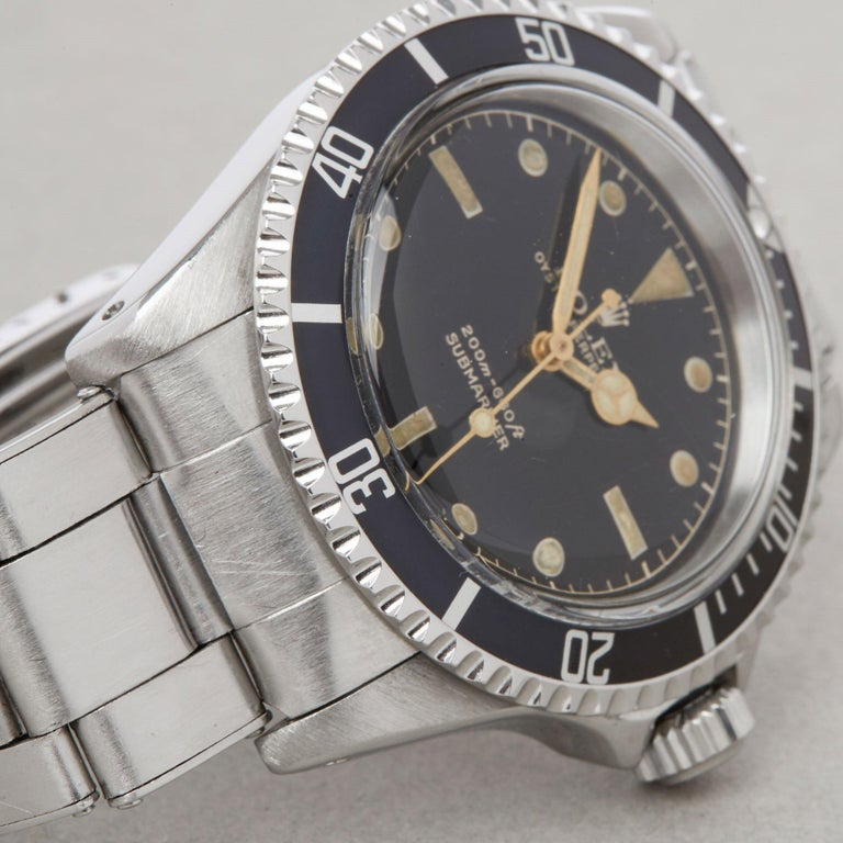 Rolex Submariner Non Date 5512 Men's Stainless Steel PCG Gilt Gloss Meters First 7