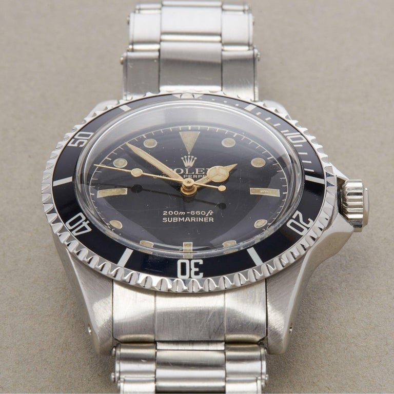 Rolex Submariner Non Date 5512 Men's Stainless Steel PCG Gilt Gloss Meters First 5