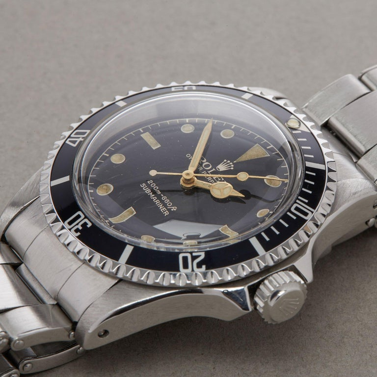 Rolex Submariner Non Date 5512 Men's Stainless Steel PCG Gilt Gloss Meters First 6
