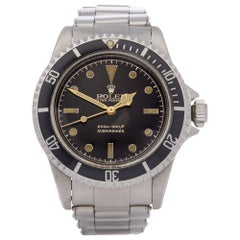 Rolex Submariner Non Date 5512 Men's Stainless Steel PGC Gilt Gloss Meters First