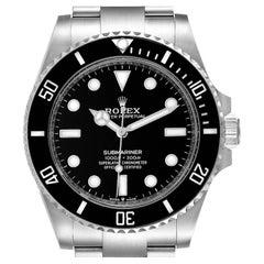 Rolex Submariner Non-Date Ceramic Bezel Steel Mens Watch 124060 Unworn