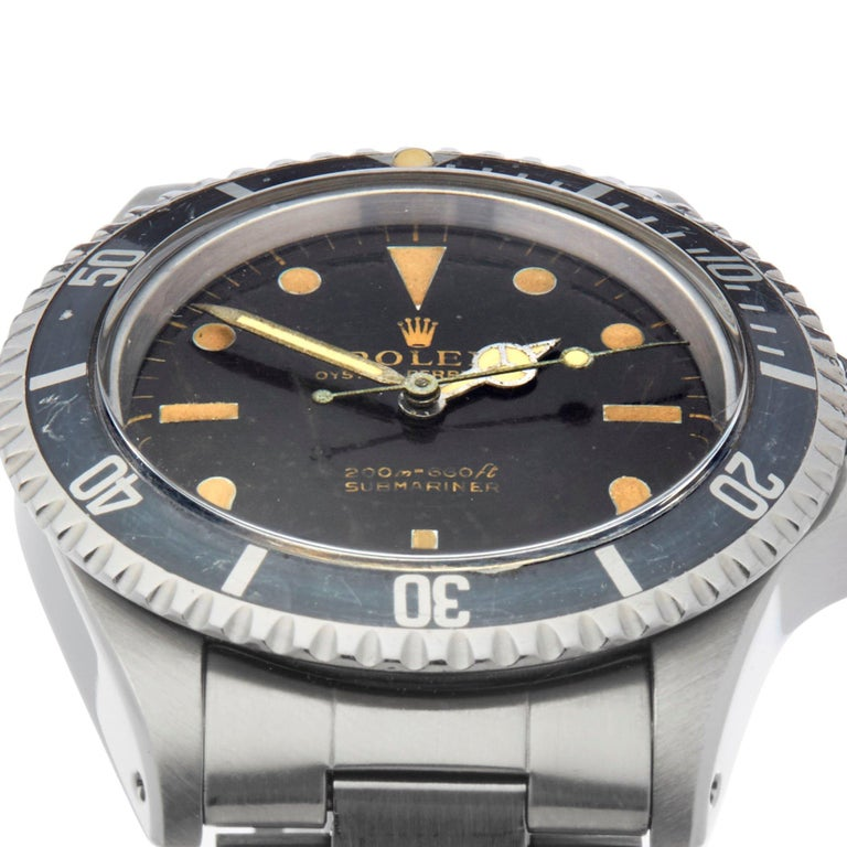 Rolex Submariner Non Date Gilt Gloss Meters First Stainless Steel 5513 In Excellent Condition For Sale In Bishops Stortford, Hertfordshire