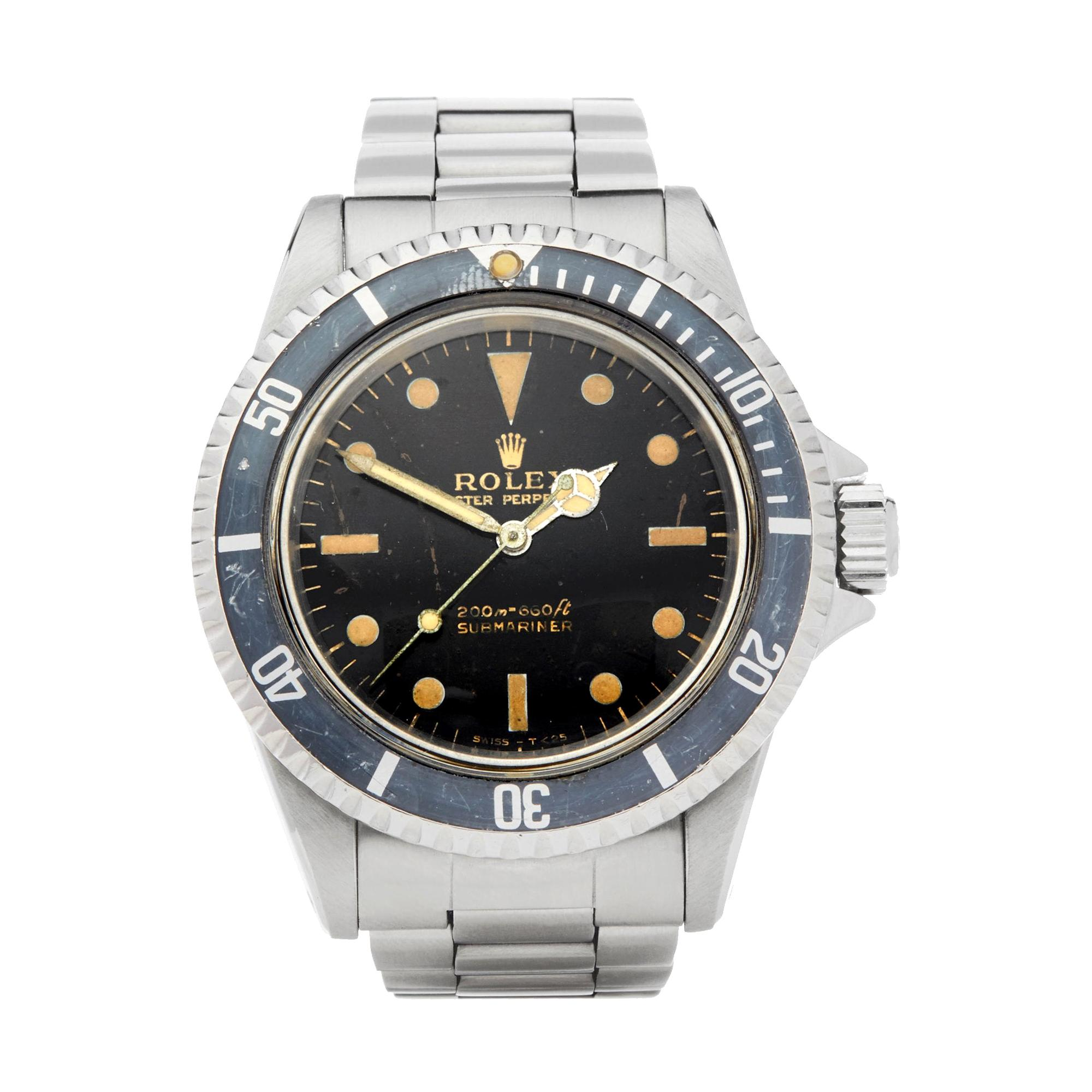 Rolex Submariner Non Date Gilt Gloss Meters First Stainless Steel 5513