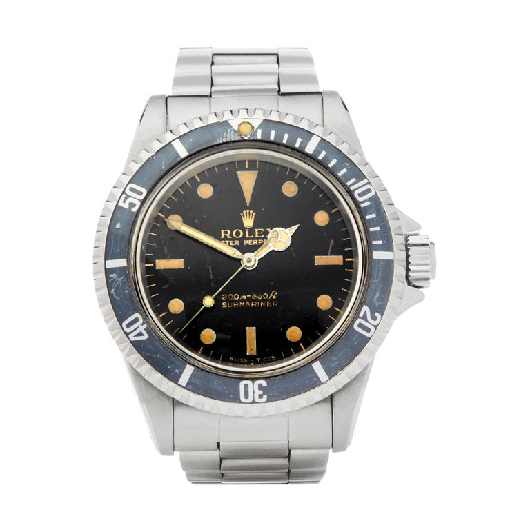Rolex Submariner Non Date Gilt Gloss Meters First Stainless Steel 5513 For Sale