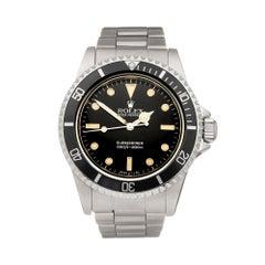 Rolex Submariner Non Date Stainless Steel 5513 Wristwatch