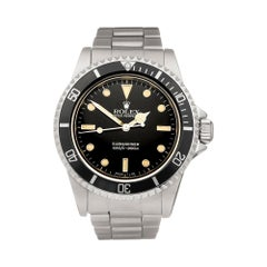 Rolex Submariner Non Date Stainless Steel 5513 Wristwatch