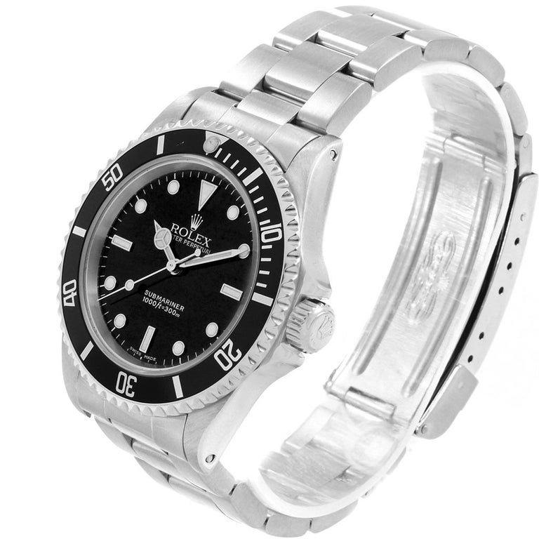 Rolex Submariner Non-Date Stainless Steel Men's Watch 14060 For Sale 6