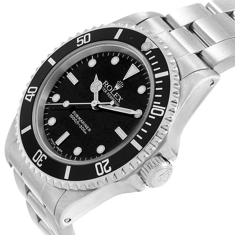 Rolex Submariner Non-Date Stainless Steel Men's Watch 14060 For Sale 2