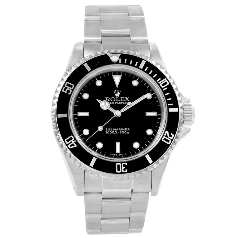 Rolex Submariner Non-Date Stainless Steel Men's Watch 14060 For Sale 3