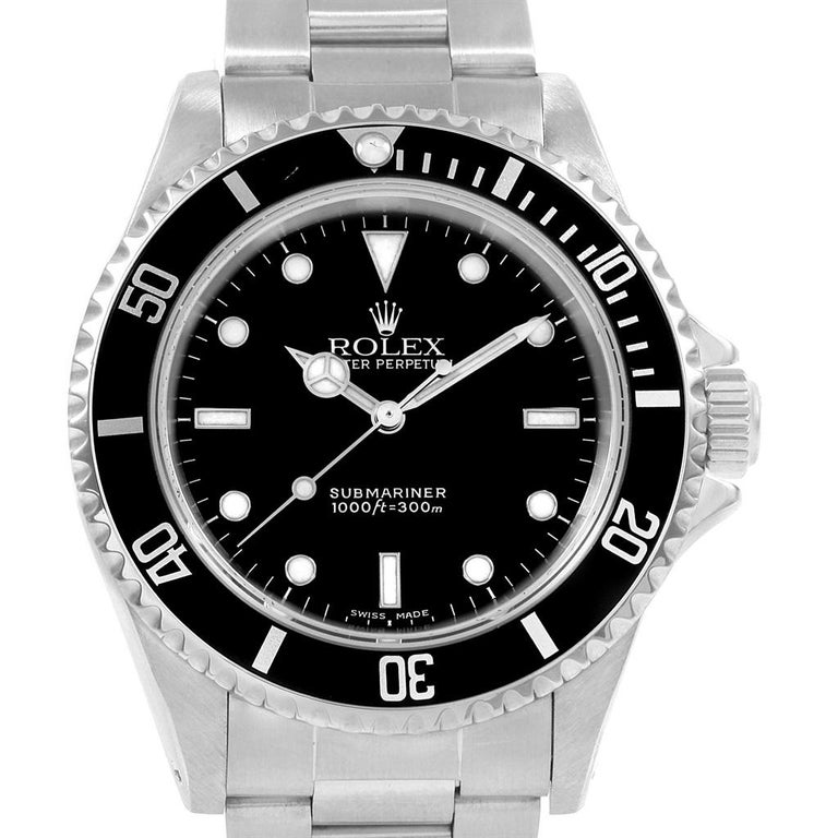 Rolex Submariner Non-Date Stainless Steel Men's Watch 14060 For Sale