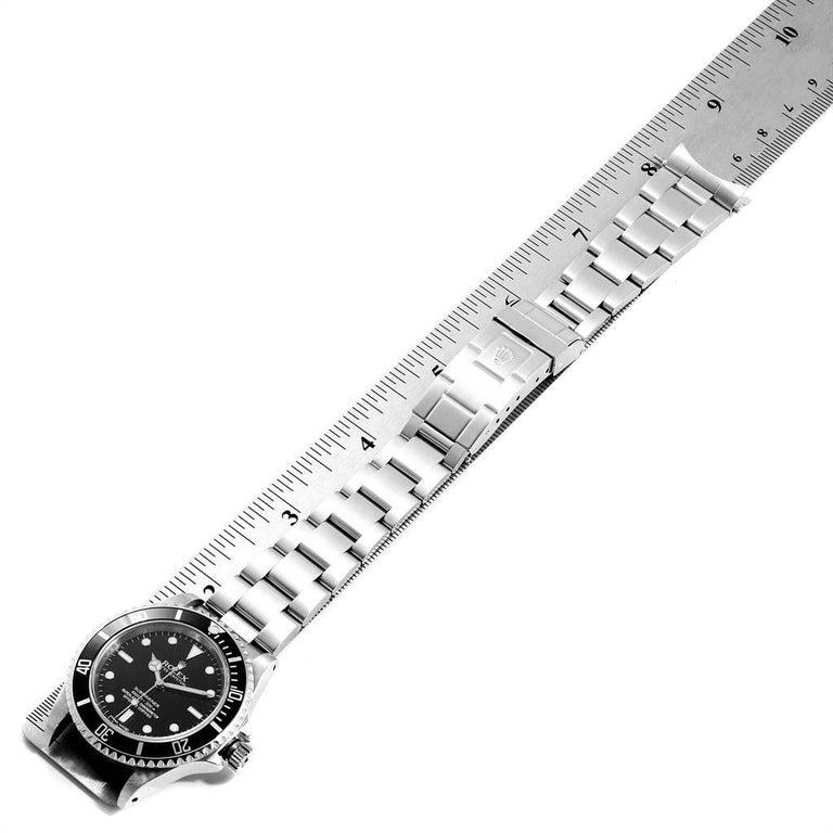 Rolex Submariner Non-Date Steel Men's Watch 14060 Box Card For Sale 6