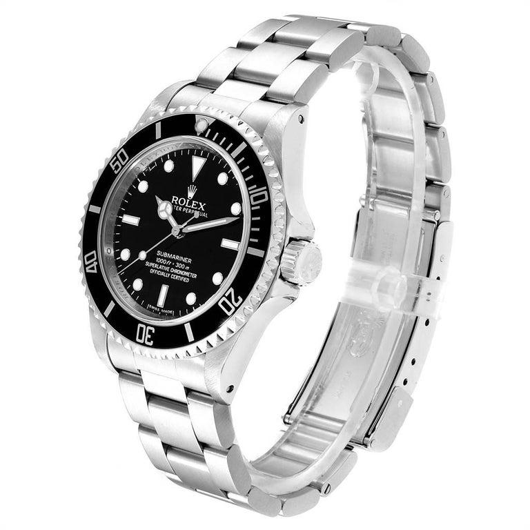 Men's Rolex Submariner Non-Date Steel Men's Watch 14060 Box Card For Sale