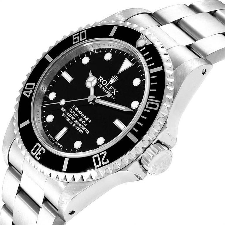 Rolex Submariner Non-Date Steel Men's Watch 14060 Box Card For Sale 1