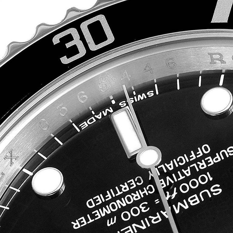 Rolex Submariner Non-Date Steel Men's Watch 14060 Box Card For Sale 2