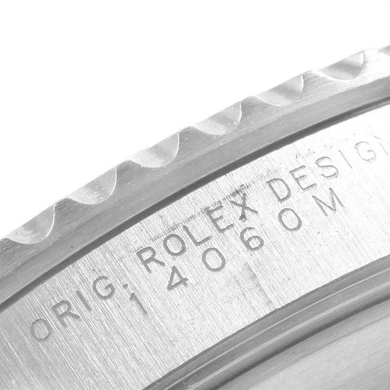 Rolex Submariner Non-Date Steel Men's Watch 14060 Box Card For Sale 3