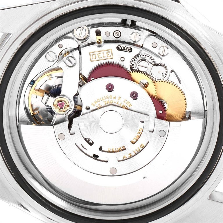 Rolex Submariner Non-Date Steel Men's Watch 14060 Box Card For Sale 4
