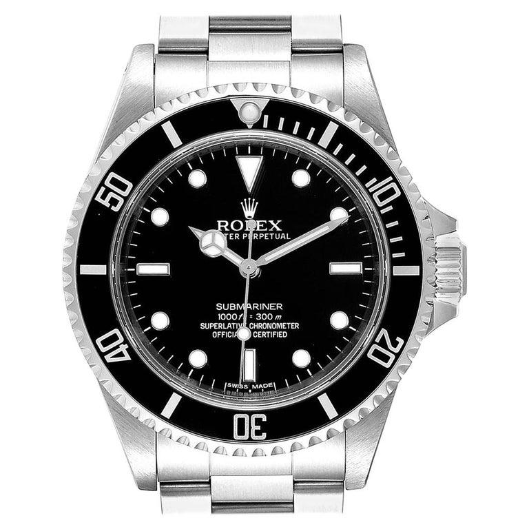 Rolex Submariner Non-Date Steel Men's Watch 14060 Box Card For Sale