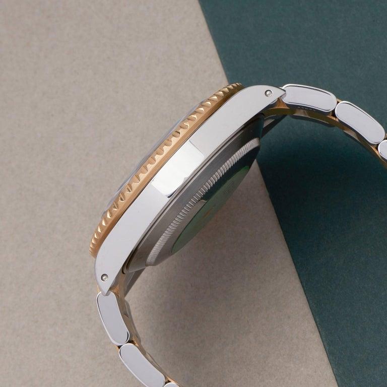 Men's Rolex Submariner Serti 16613 Men Yellow Gold & Stainless Steel 0 Watch For Sale