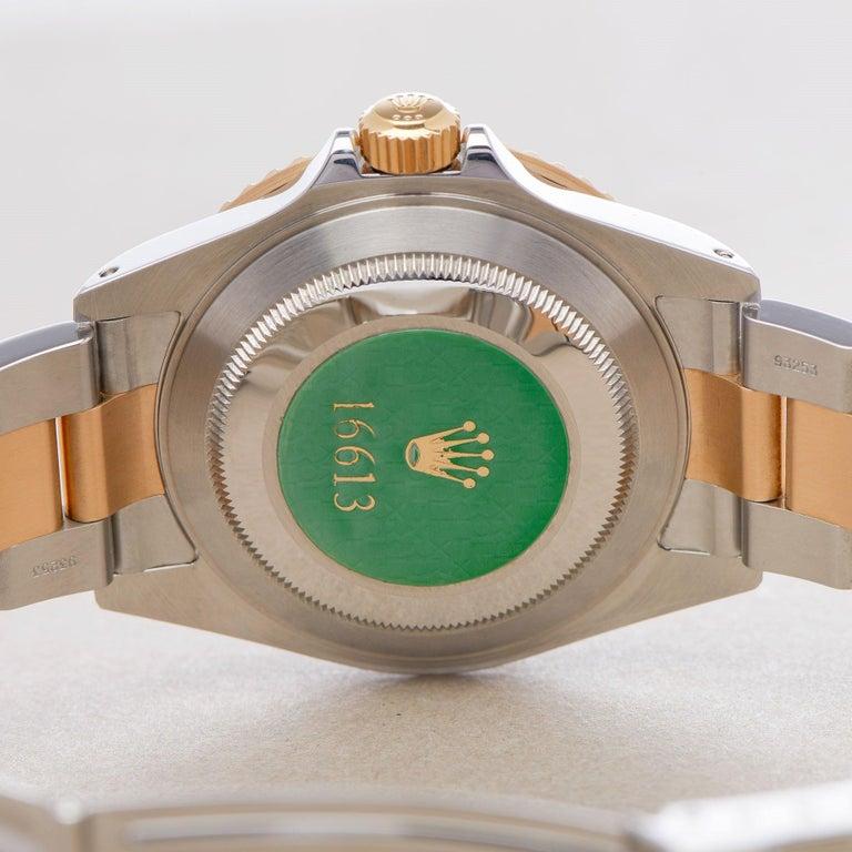 Rolex Submariner Serti 16613 Men Yellow Gold & Stainless Steel 0 Watch For Sale 3