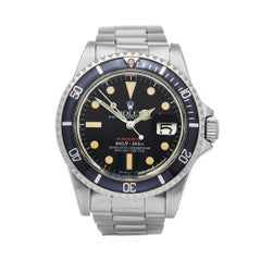Rolex Submariner Single Red Stainless Steel 1680