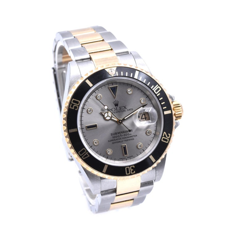 Designer: Rolex Movement: automatic  Function: hours, minutes, seconds, date Case: 40mm stainless-steel and 18K yellow gold case, sapphire crystal, 18k yellow gold bezel with black insert, yellow gold screw-down crown, waterproof to 100 meters Band: