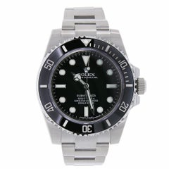 Rolex Submariner Stainless Steel Black Ceramic Watch 116610