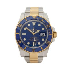 Rolex Submariner Stainless Steel and 18 Karat Yellow Gold Men's 116613lb