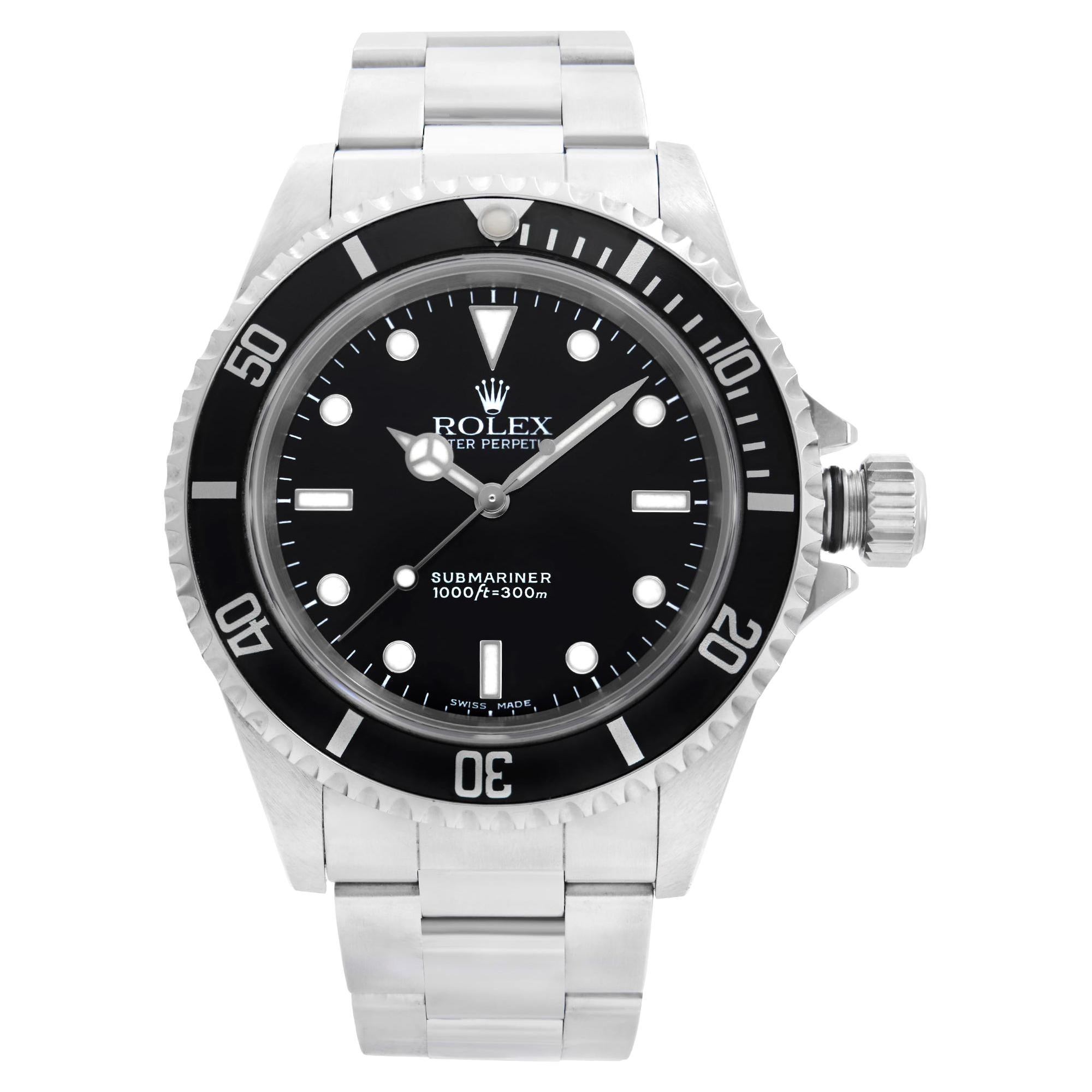 Rolex Submariner Stainless Steel Black Dial Automatic Mens Watch 14060M