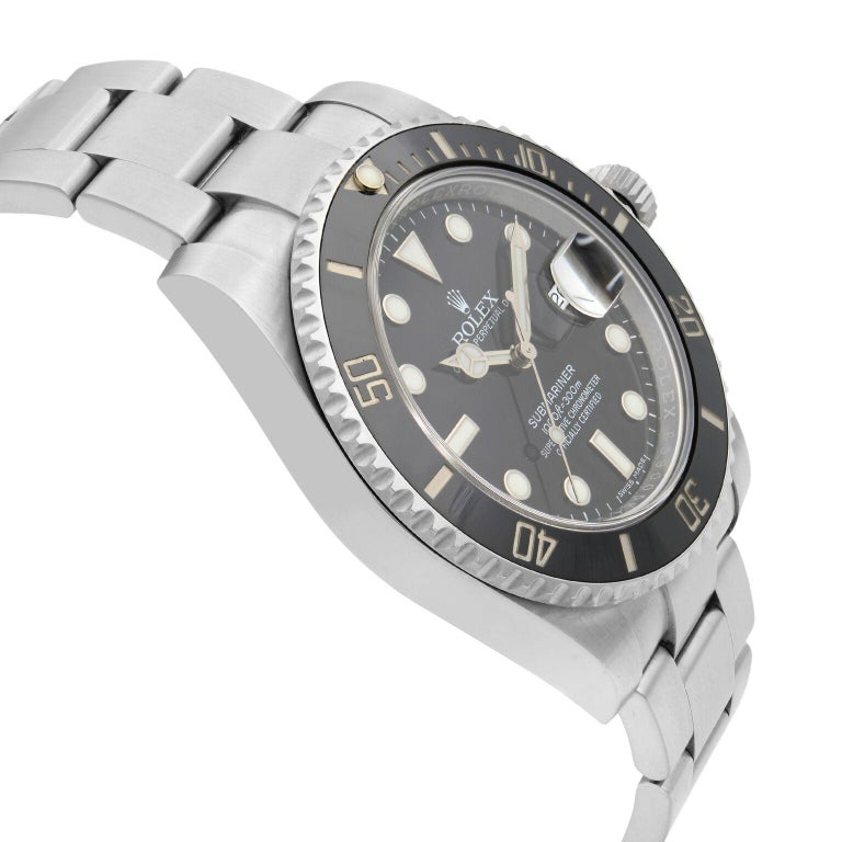 Rolex Submariner Stainless Steel Black Dial Date Automatic Men's Watch 116610LN In Excellent Condition For Sale In New York, NY