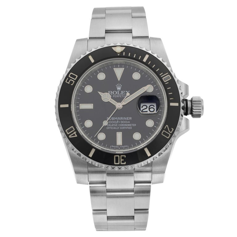 Rolex Submariner Stainless Steel Black Dial Date Automatic Men's Watch 116610LN For Sale