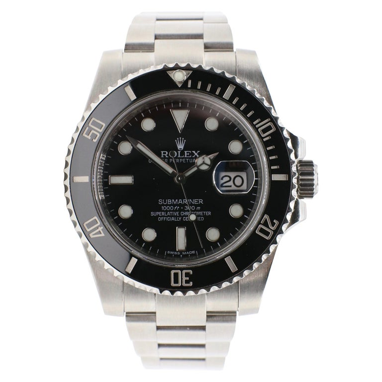Rolex Submariner Stainless Steel Black Reference 116610LN Box and Papers For Sale