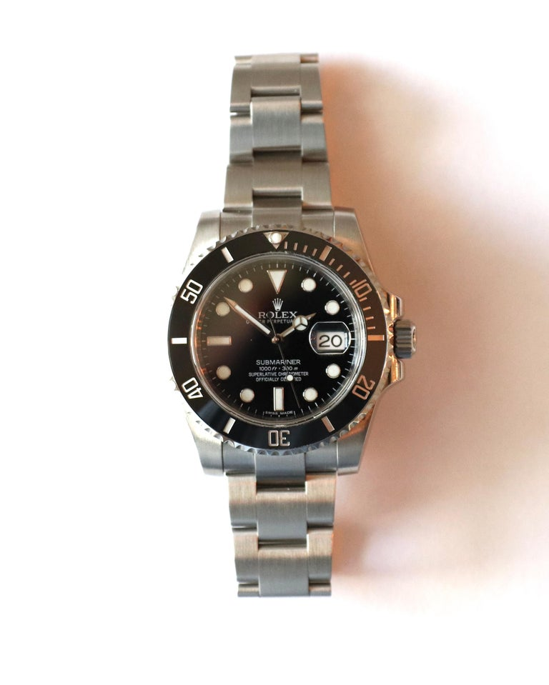 Rolex Submariner Stainless Steel Black Reference 116610LN Box and Papers For Sale 9