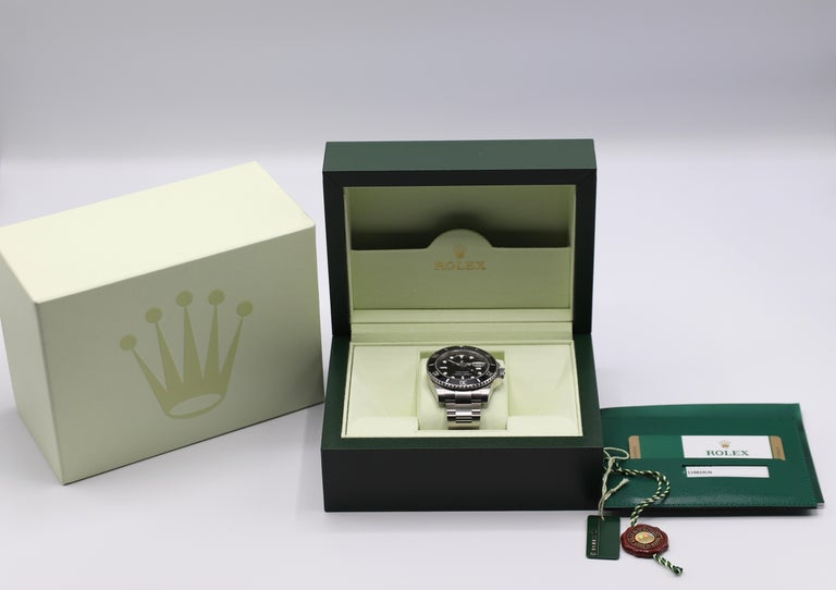 Rolex Submariner Stainless Steel Black Reference 116610LN Box and Papers For Sale 11