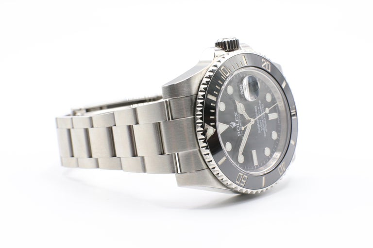 Rolex Submariner Stainless Steel Black Reference 116610LN Box and Papers For Sale 5