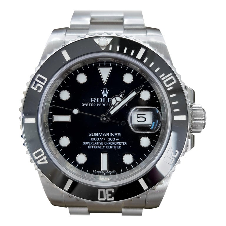 Rolex Submariner, Stainless Steel, Model Number, 116610LN, Registered 2012 For Sale