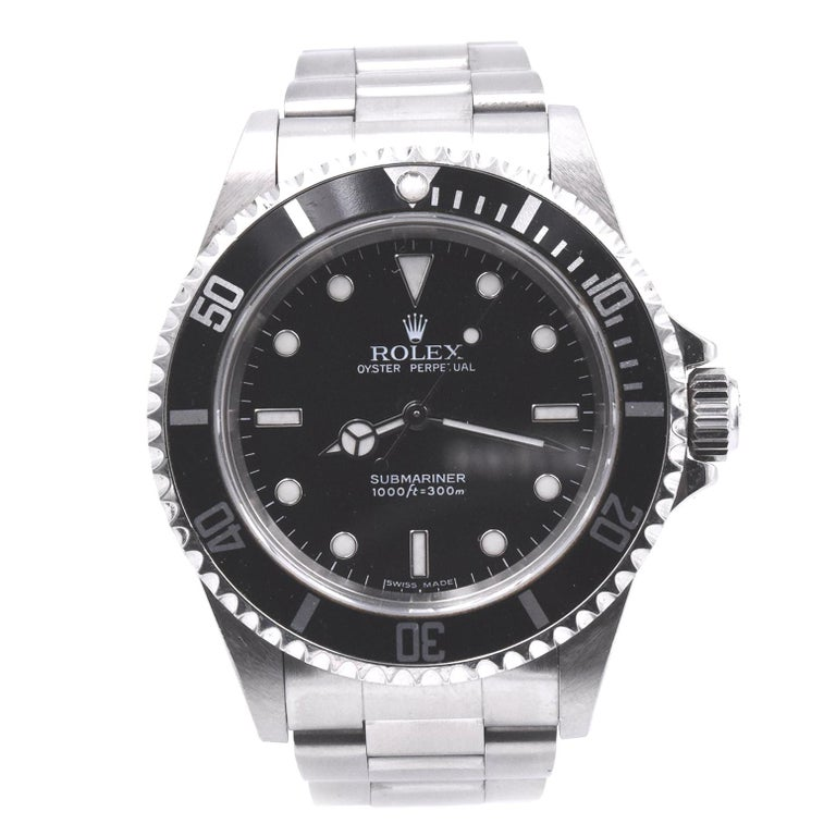 Rolex Submariner Stainless Steel No Date Watch Ref. 14060M For Sale