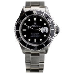 Rolex Submariner Stainless Steel Watch 16610