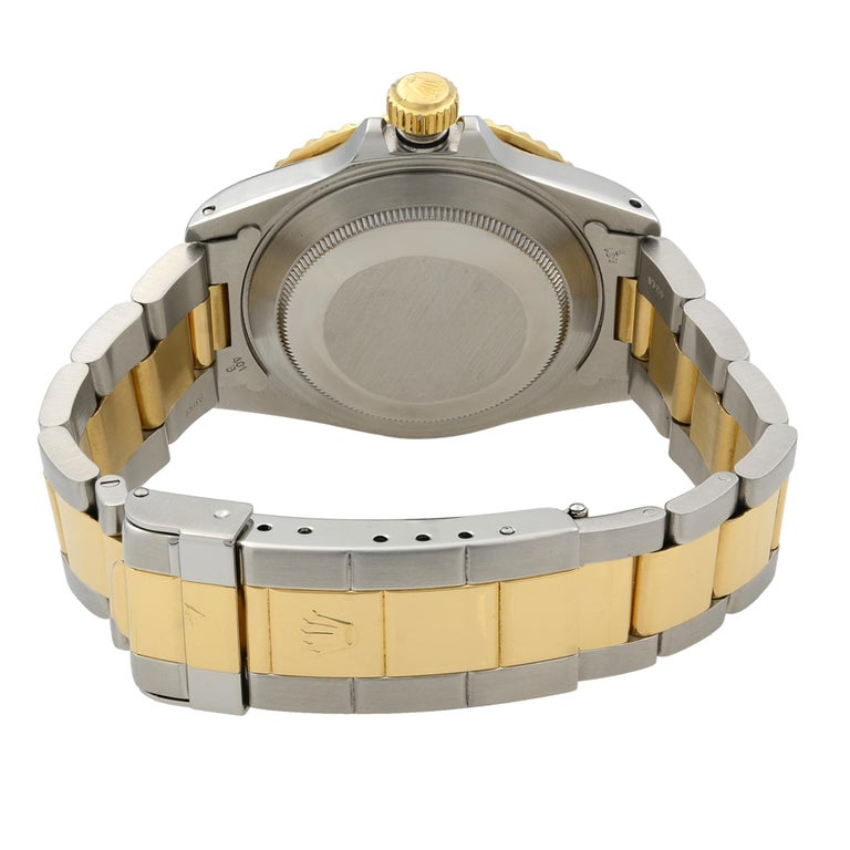 Rolex Submariner Steel 18K Yellow Gold Black Dial Automatic Men's Watch 16803 For Sale 2
