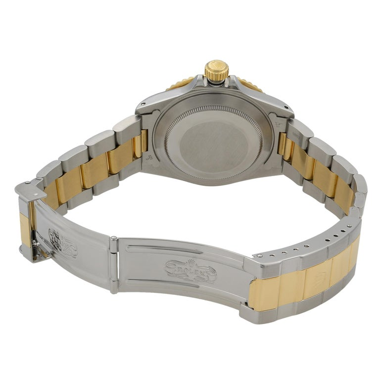 Rolex Submariner Steel 18K Yellow Gold Black Dial Automatic Men's Watch 16803 For Sale 3