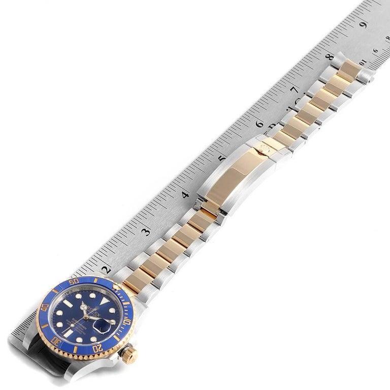Rolex Submariner Steel 18 Karat Yellow Gold Blue Dial Men's Watch 116613 7