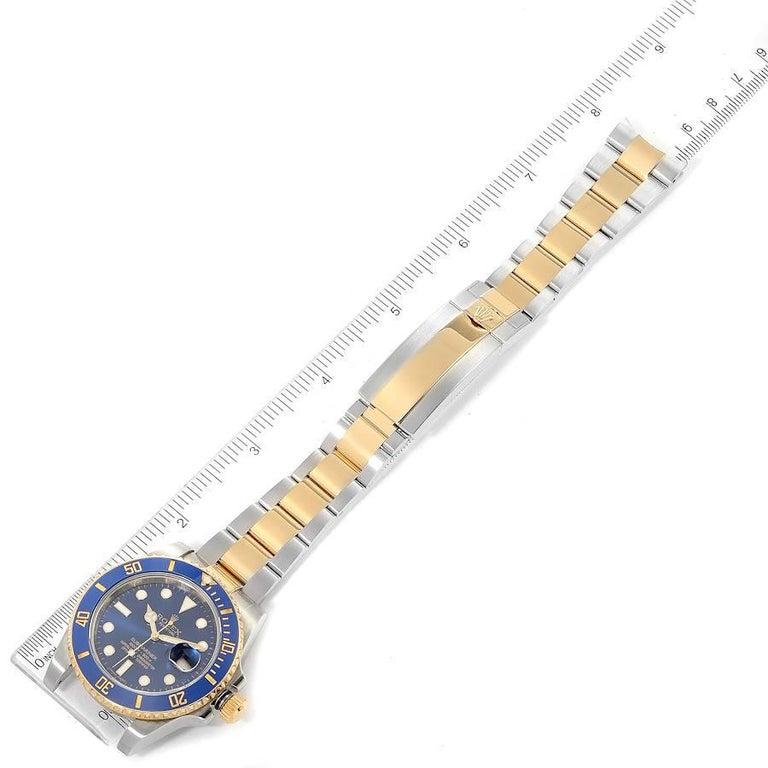 Rolex Submariner Steel 18K Yellow Gold Blue Dial Mens Watch 116613 6