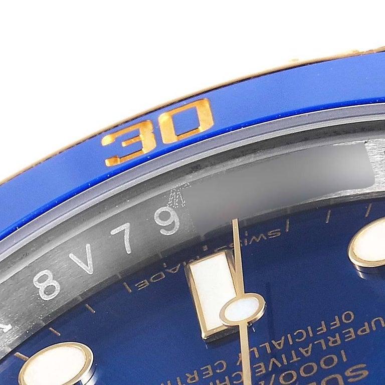 Rolex Submariner Steel 18 Karat Yellow Gold Blue Dial Men's Watch 116613 3