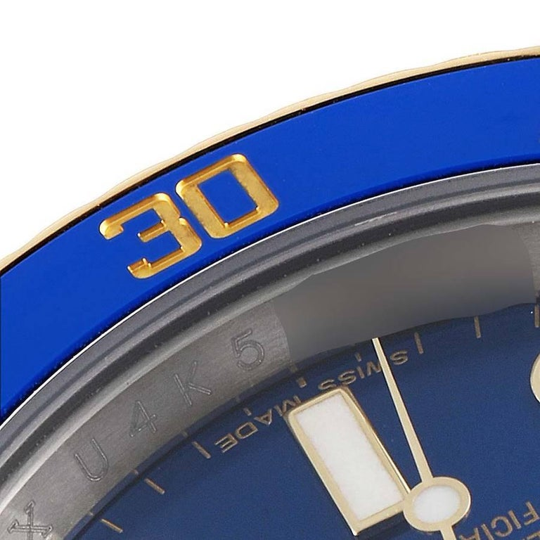 Rolex Submariner Steel 18K Yellow Gold Blue Dial Mens Watch 116613 2
