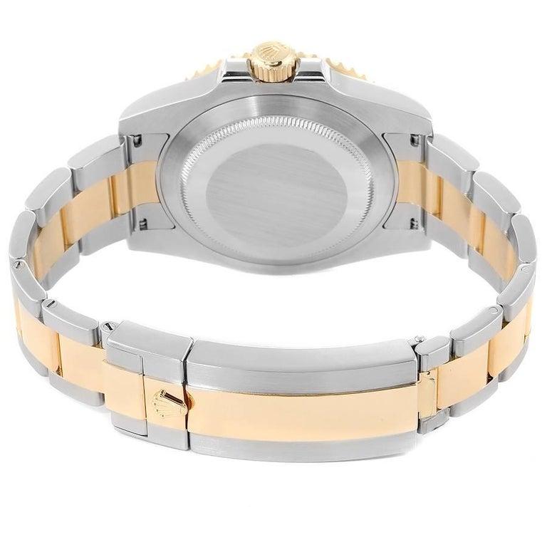 Rolex Submariner Steel 18 Karat Yellow Gold Blue Dial Men's Watch 116613 6
