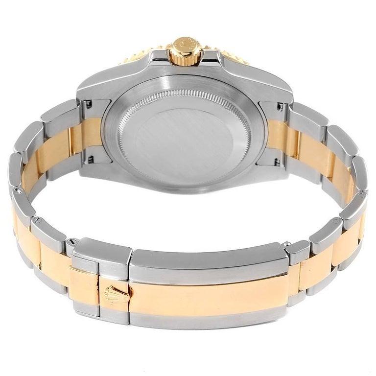 Rolex Submariner Steel 18K Yellow Gold Blue Dial Mens Watch 116613 5