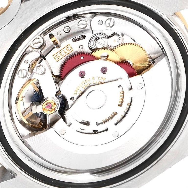 Rolex Submariner Steel 18 Karat Yellow Gold Blue Dial Watch 116613 For Sale 4