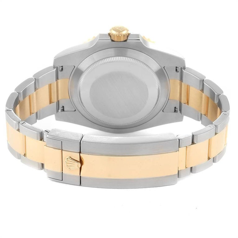 Rolex Submariner Steel 18 Karat Yellow Gold Blue Dial Watch 116613 For Sale 5