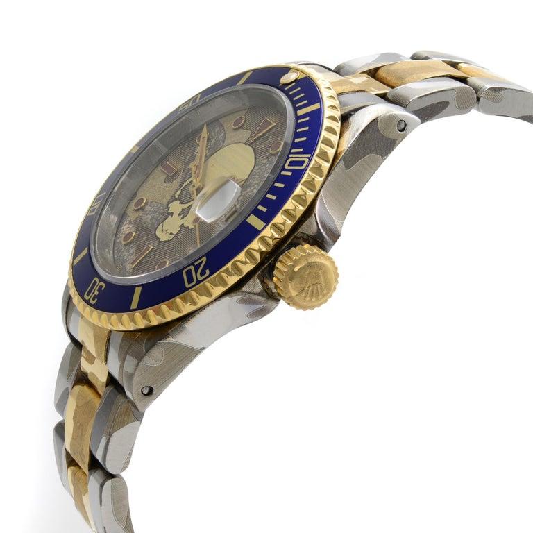 Rolex Submariner Steel 18 Karat Gold Custom Camo Automatic Men's Watch 16613 For Sale 1